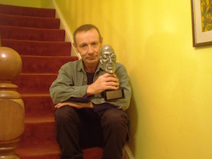 Martin Millar with world fantasy award